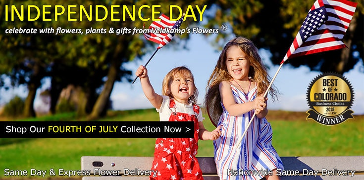 Veldkamp's Flowers offers the best selection of Independence Day themed flowers, plants and gifts in Denver.