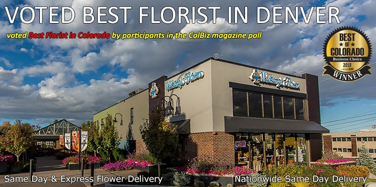 Veldkamp's Flowers was voted best florist in Denver Colorado.