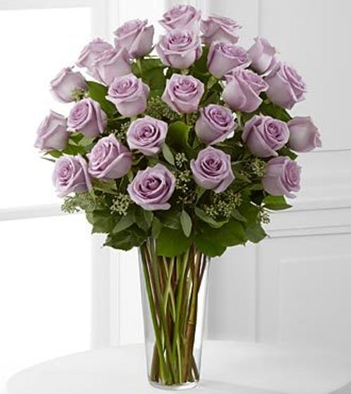 Premium Long Stem Roses - Purple