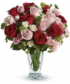Cupid's Creation Bouquet with Red Roses'