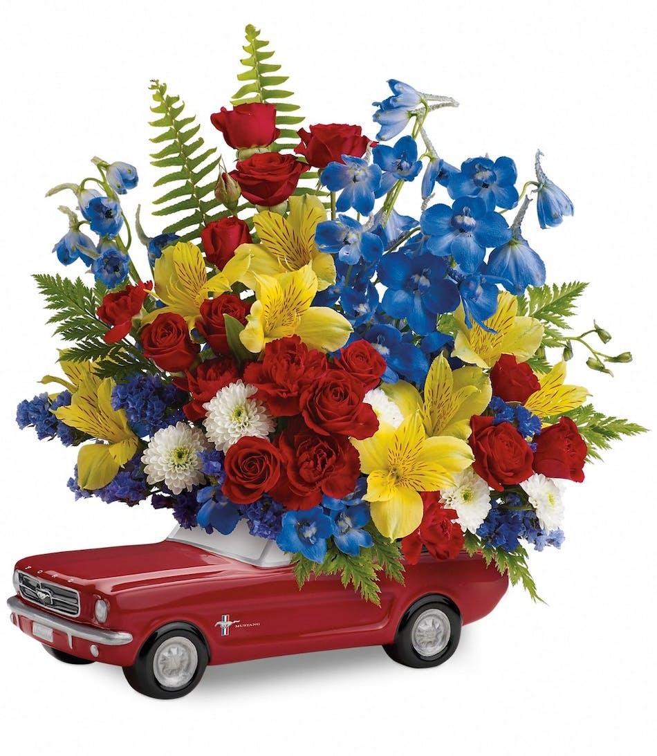 65 Ford Mustang Bouquet: Keepsake Flower Bouquet - Veldkamp\'s ...