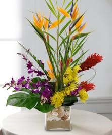 Mixed Tropical Flower Bouquet