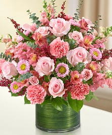 All Pink Sympathy Bouquet