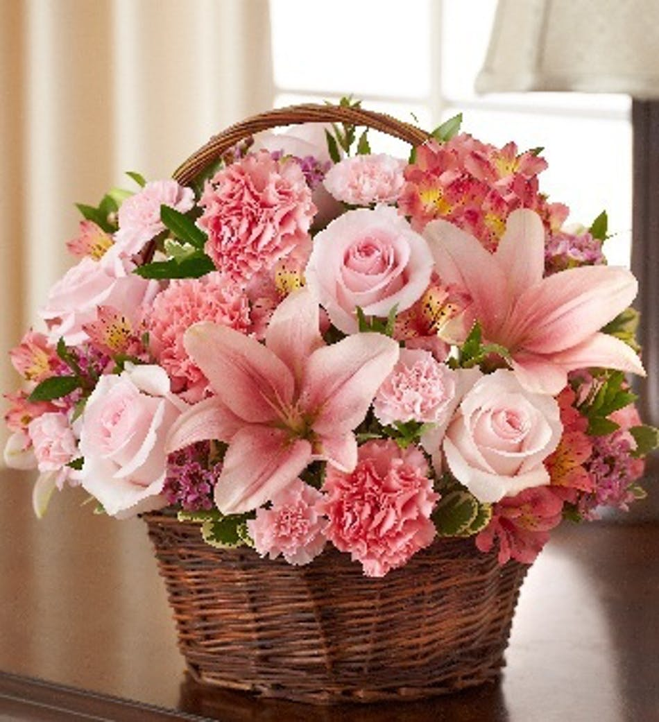 Peace, Prayers & Blessings by 1-800-Flowers: Pink Mixed Flower ...