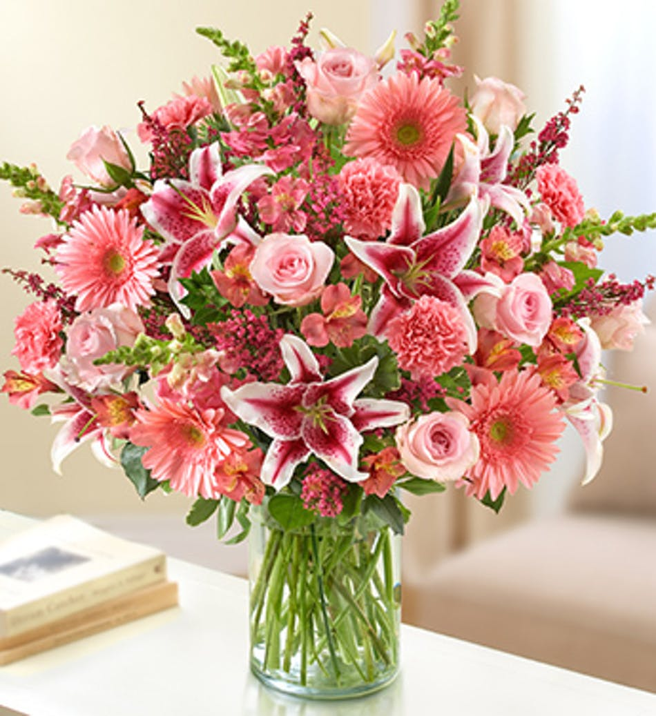 Sincerest Sorrow All Pink By 1 800 Flowers Pink Mixed Flower