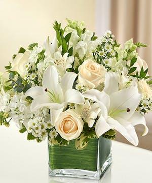 All White Sympathy Bouquet