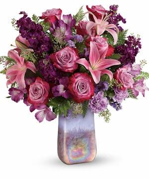 Modern Purple Floral Bouquet