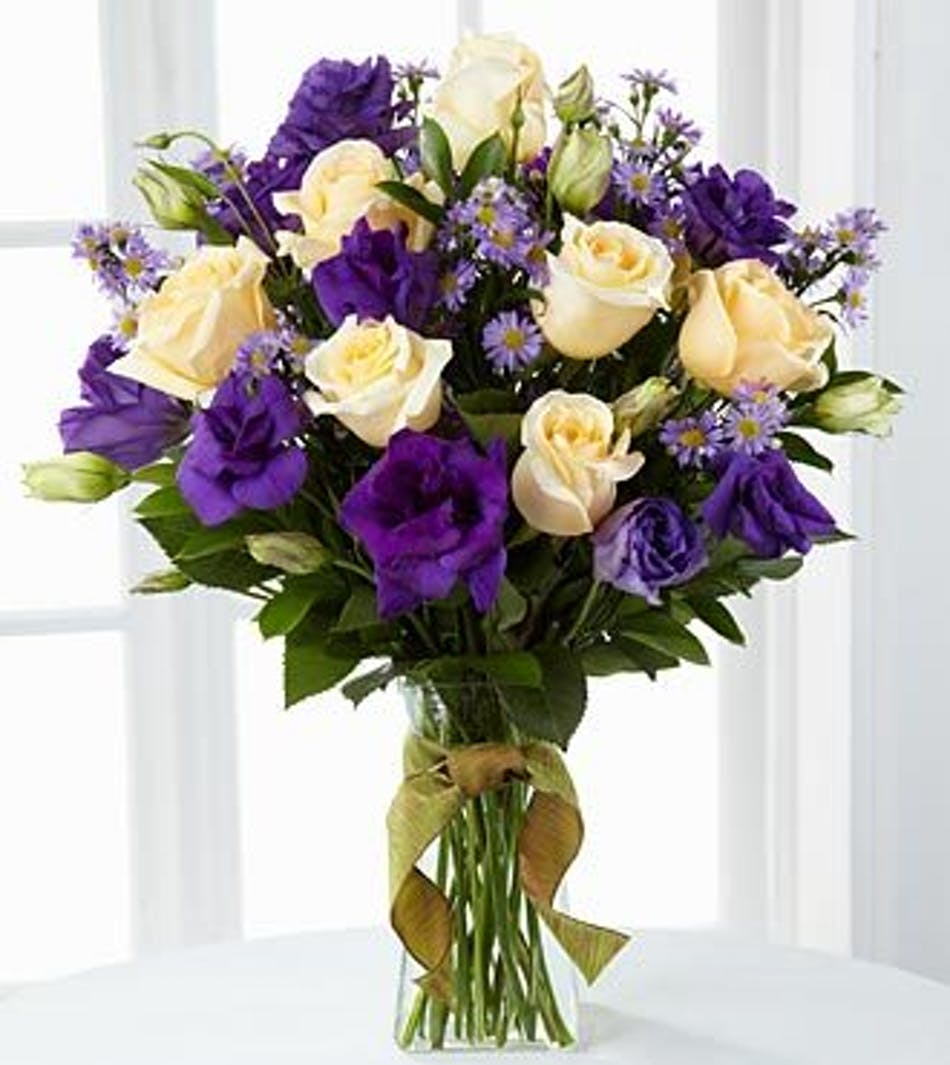 Angelique bouquet fresh flowers roses asters lavender roses white roses asters izmirmasajfo
