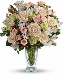 Peach & White Sympathy Bouquet