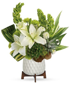 White & Green Floral Bouquet