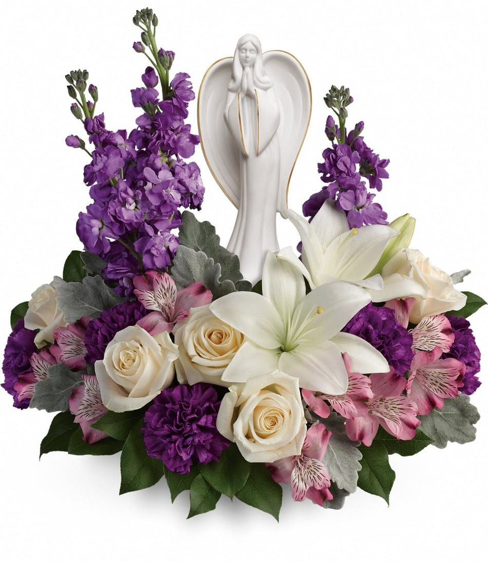 Beautiful Heart Bouquet Lavender Funeral Flowers Denver Florist