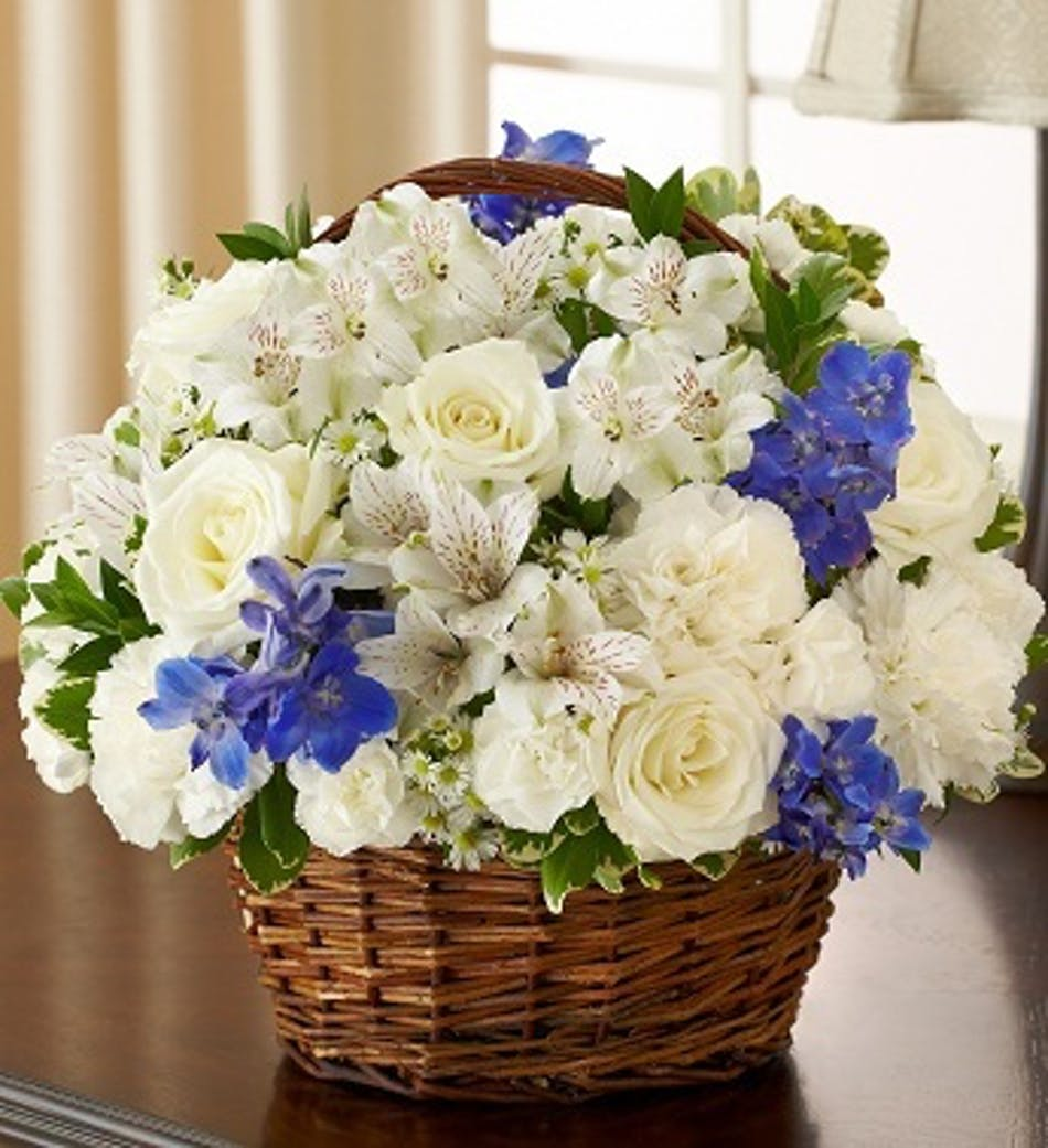 Peace Prayers Blessings By 1 800 Flowers Blue White Mixed
