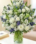 Sincerest Sorrow - Blue and White by 1-800-Flowers