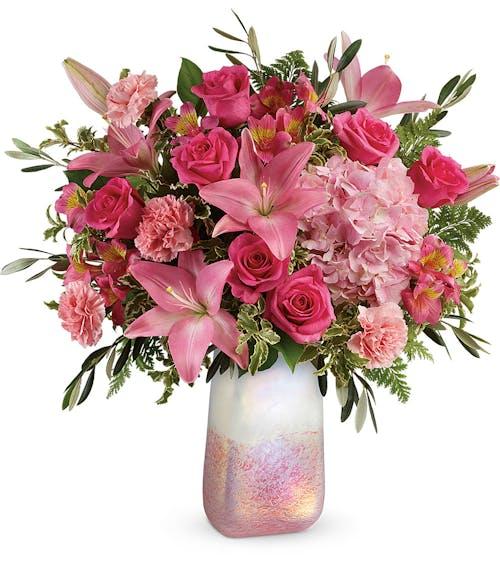 Blushing Gemstone Bouquet
