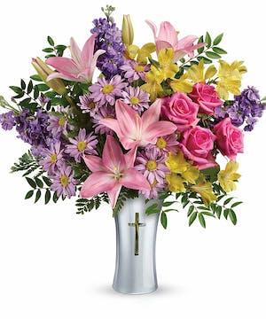 Pink & Lavender Sympathy Bouquet