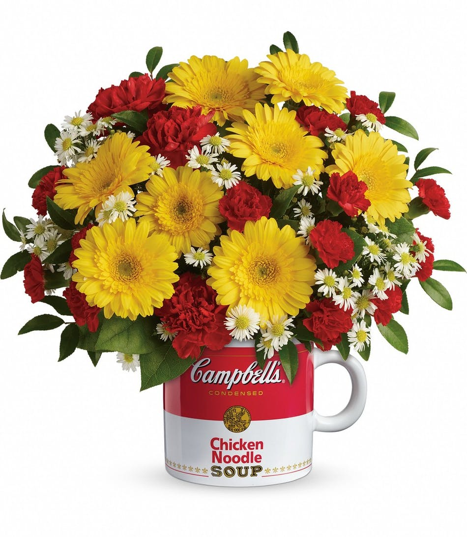 Campbells Healthy Wishes Mixed Flower Get Well Bouquet