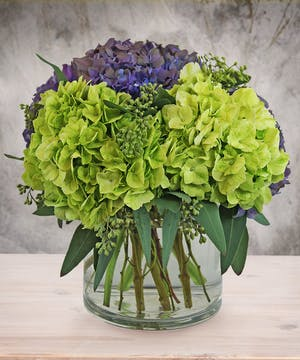 Grren & Purple Hydrangea Bouquet