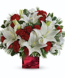 Red & White Christmas Bouquet