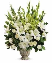 White Rose & Lily Sympathy Bouquet