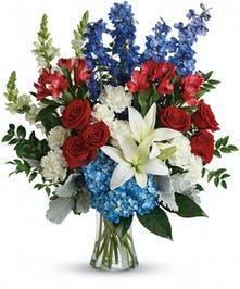 Red, White & Blue Tribute Bouquet