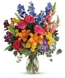 Bright Mixed Color Sympathy Bouquet