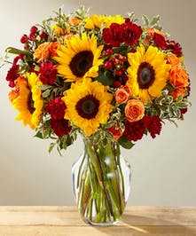 Bright Fall Flowers