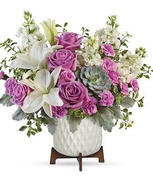 Modern White & Lavender Bouquet