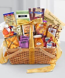 Premium Gift Basket Filled With Local Fruit & Treats