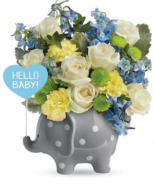 Blue Baby Boy Arrangement