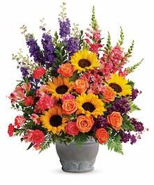 Rose & Sunflower Tribute Bouquet