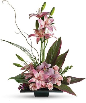 Pink Bouquet with Cymbidium Orchids