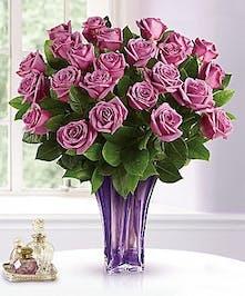 Lavender Anniversary Rose Bouquet