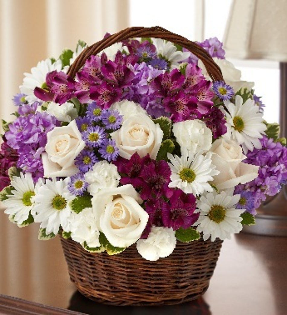 Funeral Flower Basket Denver Flower Shop Funeral Flower Baskets