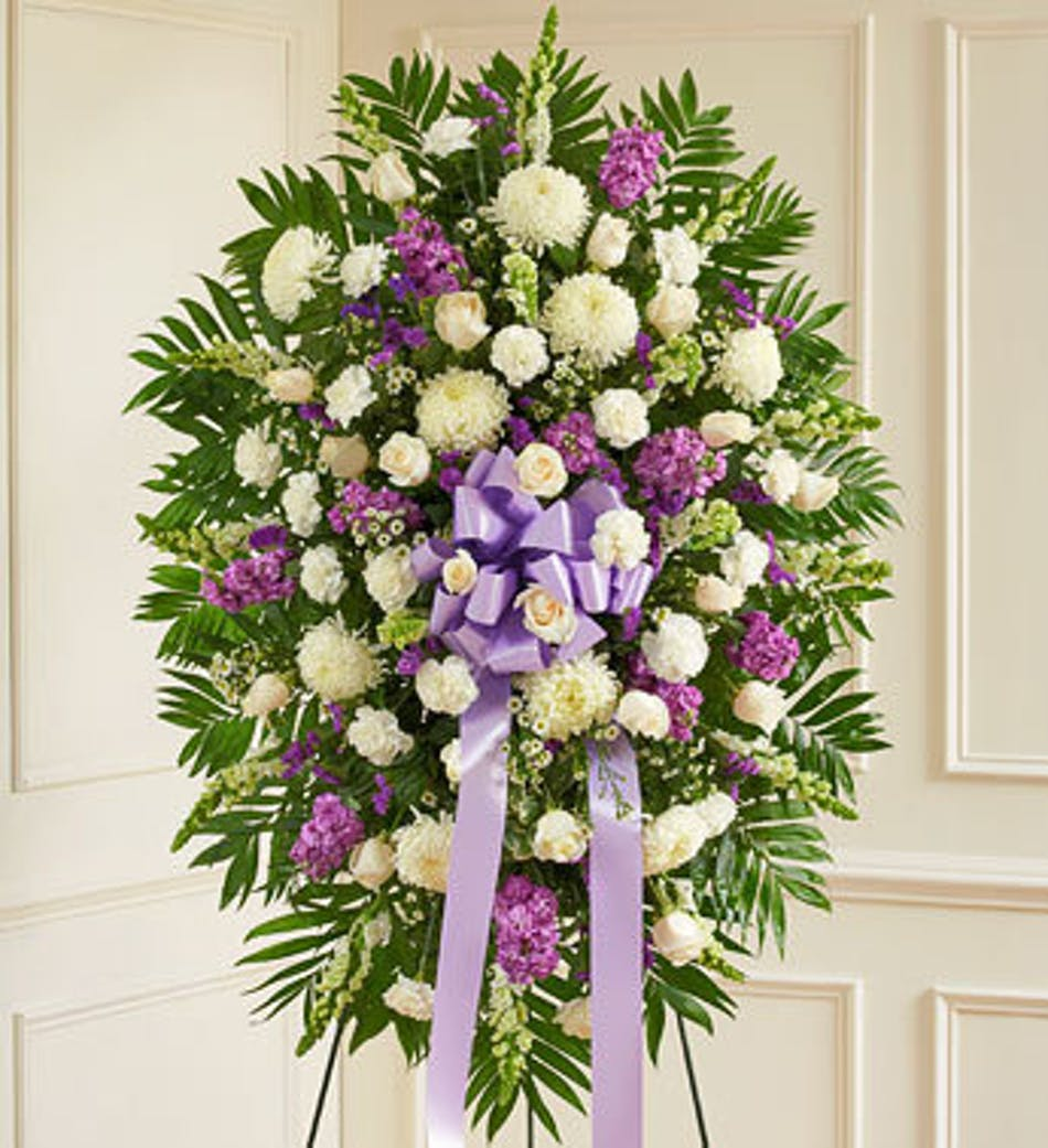 Standing funeral spray denver standing funeral spray denver florist available for nationwide delivery izmirmasajfo Images