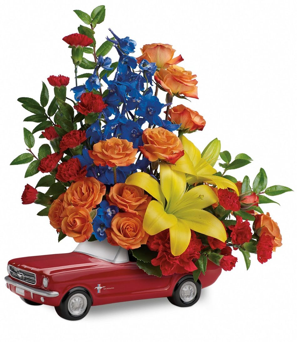 Living The Dream 65 Ford Mustang Flowers For Him Veldkamps