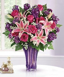Elegant Pink & Lavender Bouquet