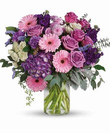 Purple, Pink & White Bouquet