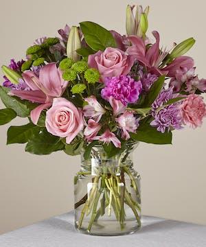 Lavender & Pink Spring Bouquet