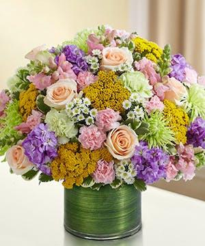 Multicolor Pastel Sympathy Bouquet