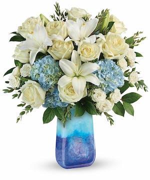Elegant Blue & White Bouquet