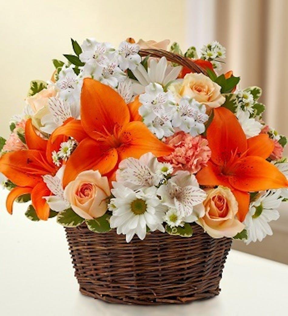Peace Prayers & Blessings by 1-800-Flowers: Peach, Orange & White ...