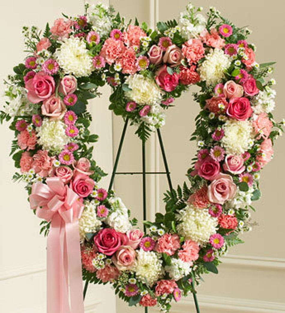 Funeral heart sprays aurora colorado sympathy flowers available for nationwide delivery izmirmasajfo
