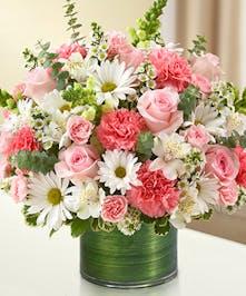 Pink & White Sympathy Bouquet