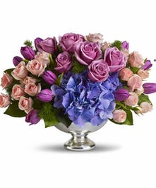 Purple Spring Centerpiece`
