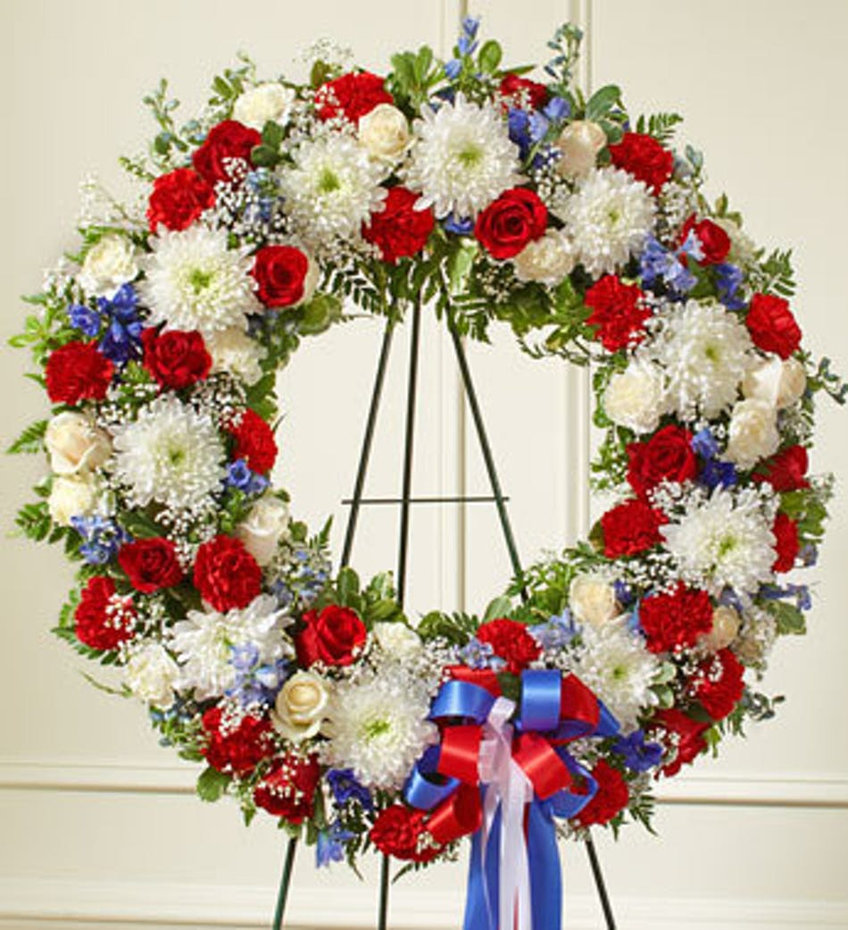 Red White Blue Standing Wreath