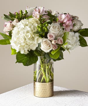 Elegant Pink & White Bouquet