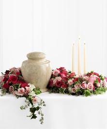 Pink Rose Cremation Arrangement