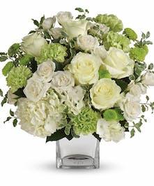 White & Green Sympathy Bouquet