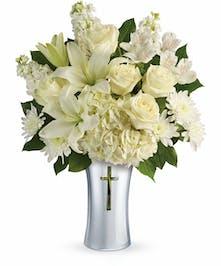 White Sympathy Bouquet