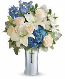 Blue & White Sympathy Bouquet